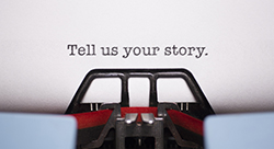 Tell us your story graphic